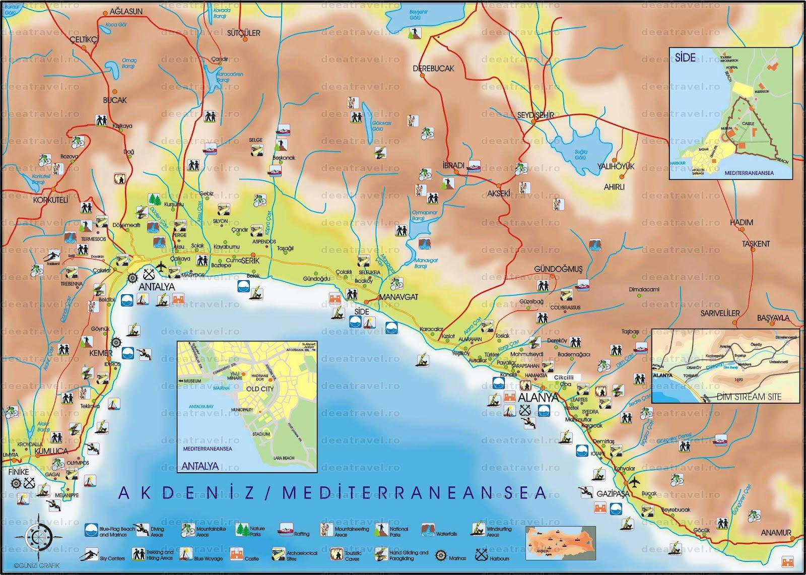 turcia litoral harta Turcia   Litoral 2019, Antalya 2016, Agentia De Turism Deea Travel  turcia litoral harta